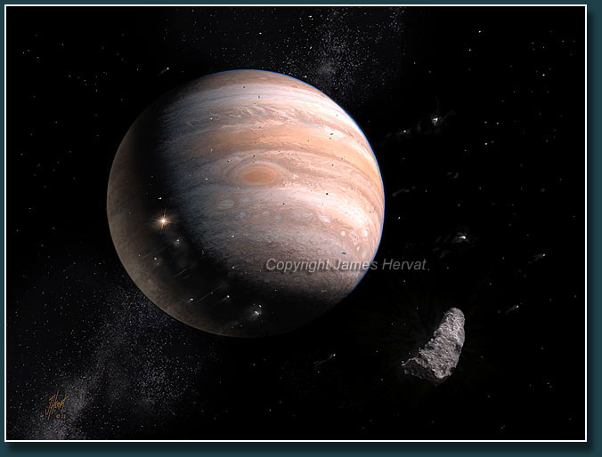 Comet Shoemaker-Levy and Jupiter