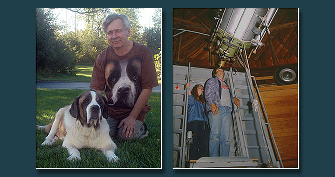 With Saint Bernard Olie and at Lowell Observatory